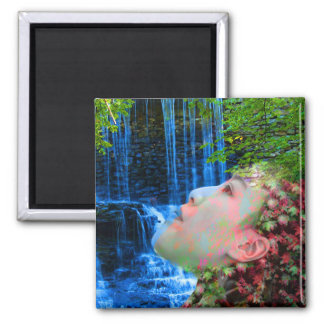 Fountain of Youth 2 Inch Square Magnet