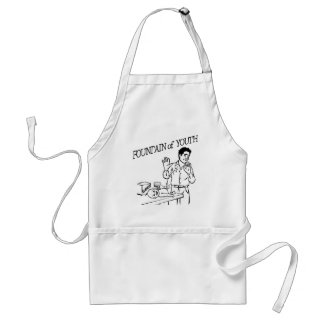 """""""Fountain of Youth"""" Adult Apron"""