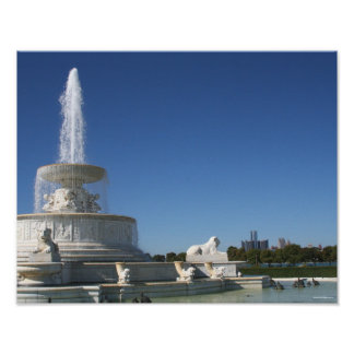 Fountain on Belle Isle Poster