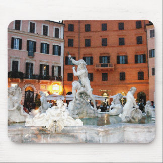 Fountain on the Piazza Navona Mouse Pad