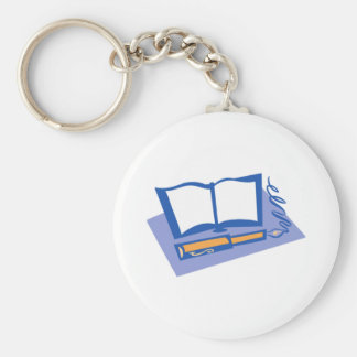 Fountain Pen and Book Keychain