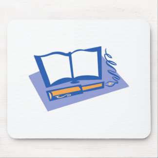 Fountain Pen and Book Mouse Pad