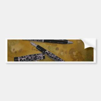 fountain pen antique art bumper sticker