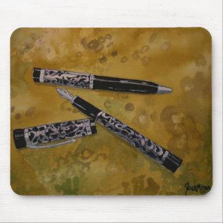 fountain pen antique art mouse pad