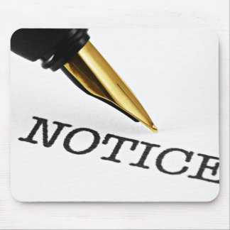 Fountain Pen Notice Mouse Pad