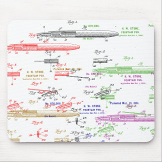 Fountain pen patent mouse pad