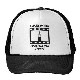 Fountain Pen Stunts Trucker Hats