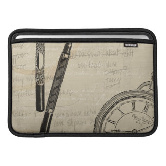 Fountain Pens and Watchface with Notes MacBook Air Sleeve