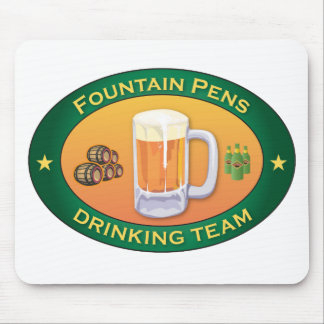 Fountain Pens Drinking Team Mouse Mat