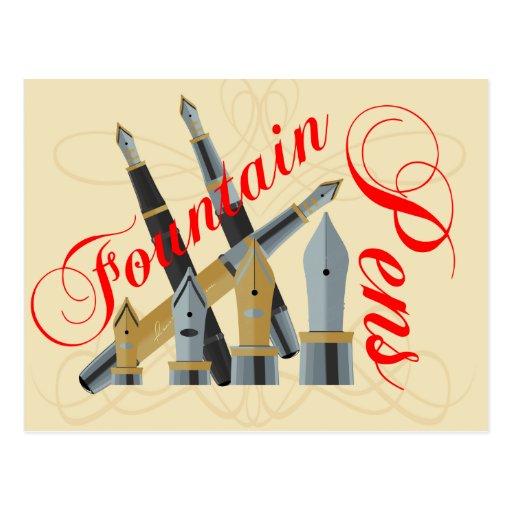 Fountain Pens Post Card