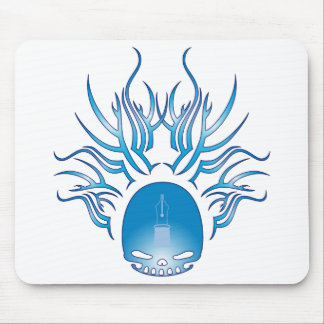 Fountain Pens Skull Mouse Pad