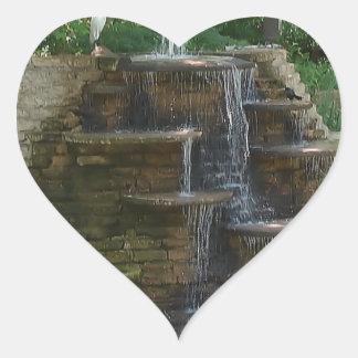 """Fountain "" Photography by Carter L. Shepard Heart Sticker"