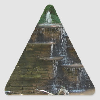 """""""Fountain """" Photography by Carter L. Shepard Triangle Sticker"""