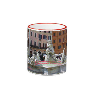 Fountain, Plaza Navona Ringer Coffee Mug