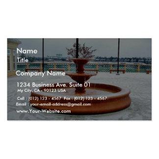 Fountain Snow Portland Business Card