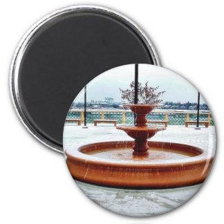 Fountain Snow Portland Refrigerator Magnet