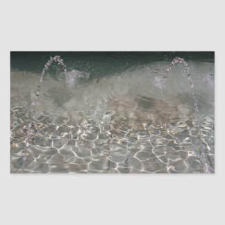 Fountain Spray Rectangular Sticker