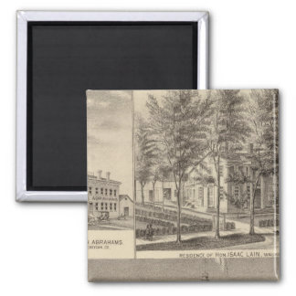 Fountain Spring House & Lain residence 2 Inch Square Magnet