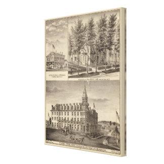 Fountain Spring House & Lain residence Canvas Print