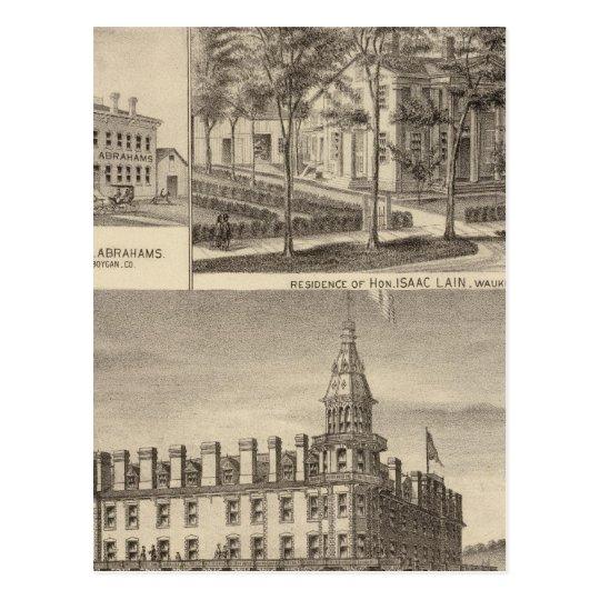 Fountain Spring House & Lain residence Postcard