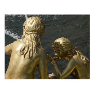 Fountain Statue Postcard