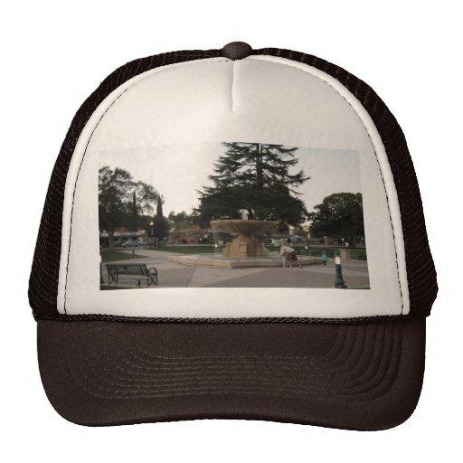 Fountain, Sunken Gardens, Atascadero Trucker Hat