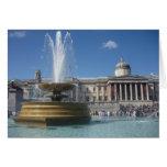 fountain trafalgar greeting card
