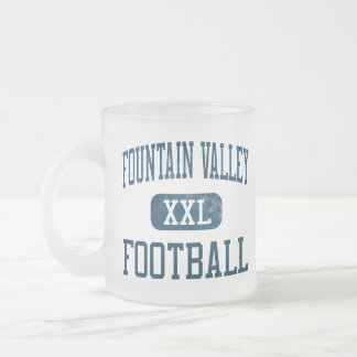Fountain Valley Barons Football 10 Oz Frosted Glass Coffee Mug
