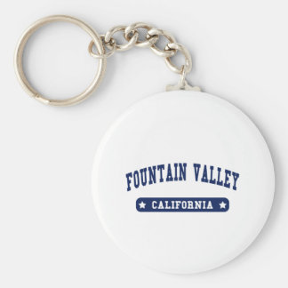 Fountain Valley California College Style tee shirt Keychains