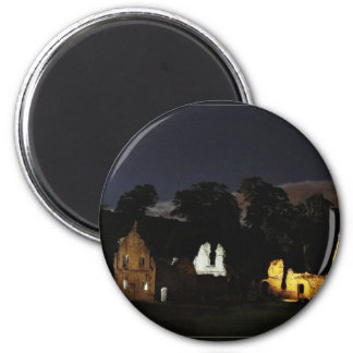 Fountains Abbey In North Yorkshire At Night Refrigerator Magnets