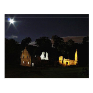 Fountains Abbey In North Yorkshire At Night Postcard