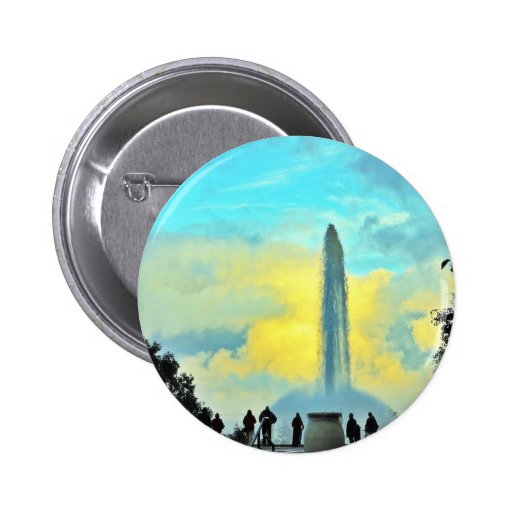Fountains At Dusk 2 Inch Round Button