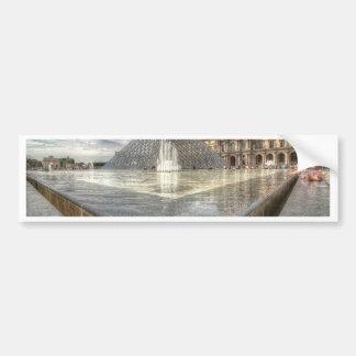 Fountains at The Louvre Paris France Bumper Sticker