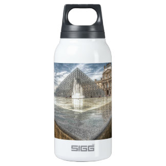 Fountains at The Louvre, Paris France Insulated Water Bottle