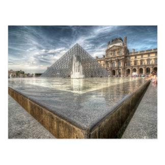 Fountains at The Louvre, Paris France Postcard
