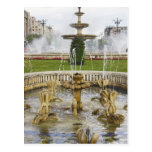 Fountains in front of the Palace of Parliament Postcard