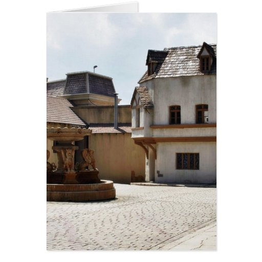 Fountains In Old Town Greeting Card
