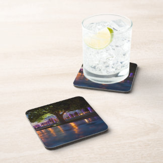Fountains show - Warsaw city by night cork coaster
