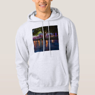 Fountains show - Warsaw city by night photography Hoodie