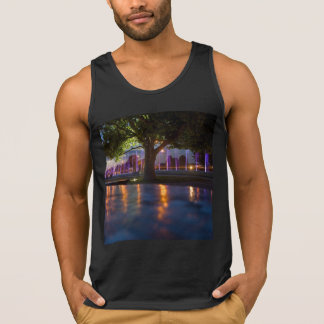 Fountains show - Warsaw city by night tank top
