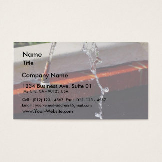 Fountains Water Spouts Business Card