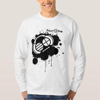 Four4ths_Black Blot on White T-Shirt