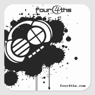 "Four4ths :: ""Black Blotter"" (stickers) Square Sticker"