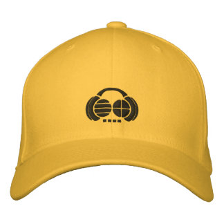 Four4ths - Black Embroidered Logos on light hat