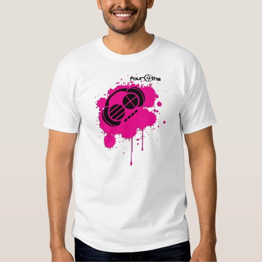 Four4ths:: Logotipo de la salpicadura del rosa y Playera