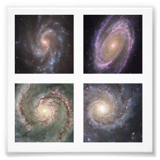 Four 2-inch Square Spiral Galaxies Photo