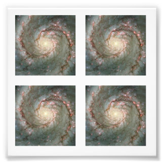 Four 2-inch Square Whirlpool Galaxy  Photo