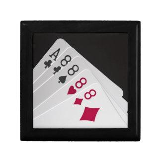 Four 8s and an Ace Keepsake Box
