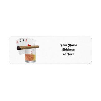 Four Aces & A Cigar Return Address Label