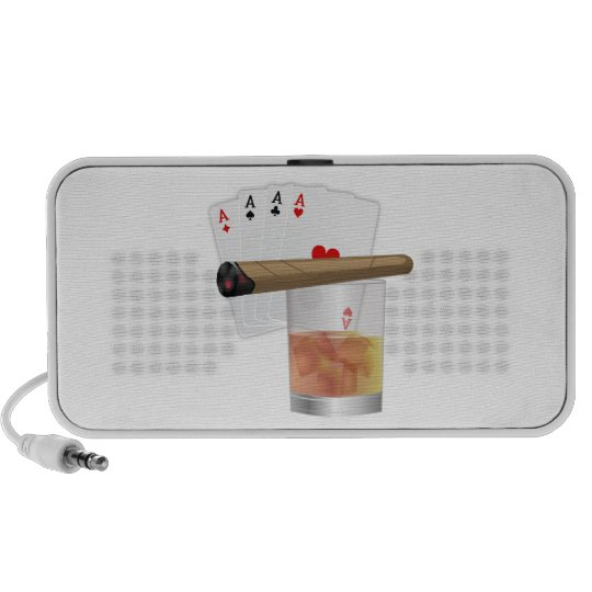 Four Aces, A Drink and A Cigar Mini Speaker